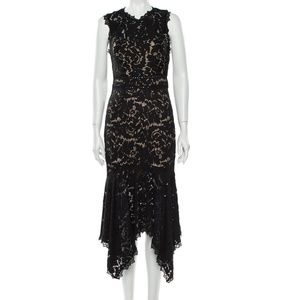 NWT- SAYLOR Lace Pattern Midi Length Dress